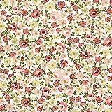Fabulous Fabrics Baumwollstoff Blumen Zeeland 5 Altrosa —