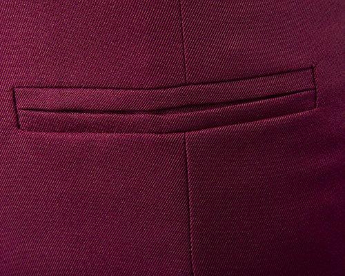 Uomo Casuale Panciotto Gilet Slim Fit Cardigan Giacca Senza Maniche Corpetto Blazer Bodeaux