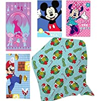 Niños personajes de dibujos animados impresión manta niños cálido forro polar 100cm x 150cm manta, Trolls Print, 100CM × 150CM