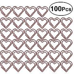Idea Regalo - Toymytoy Love a forma di cuore graffette note photo Sign clip segnalibro clip cancelleria ufficio accessori, pezzi (rosso)