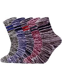 Cimary 5 Pares de Calcetines Para hombre-Ideales para invierno,tamaño EU 40-45 (5 colores)
