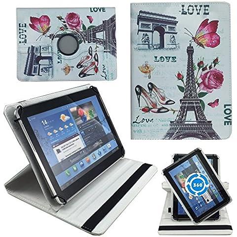 Love Paris Funda Tablet Funda para 10pulgadas Samsung Galaxy Tab A6SM de T580/t585