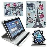 Love Paris Schutz Hülle Tablet Tasche für 10 Zoll Jay-Tech / CANOX Tablet PC 101