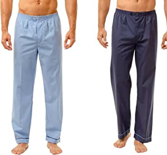 INSIGNIA 2 Pack Mens Traditional Pyjamas Trousers Bottoms