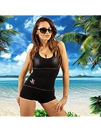 STANTEKS Damen Badeanzug Schwarz Größe:44