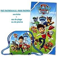 SERVIETTE DE BAIN- PLAGE PAT PATROUILLE+1 SAC DE PLAGE ou SAC DE SPORT NOUVEAUTE 2016-2017