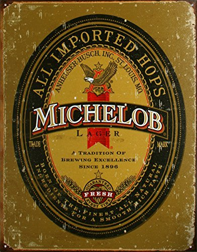 michelob-beer-logo-distressed-retro-vintage-tin-sign-by-poster-revolution