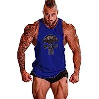 Cabeen Uomo Palestra Canotta Smanicato Bodybuilding Canottiera Gym Cotone Sport Tank Top
