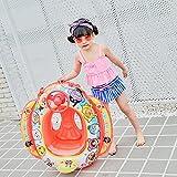 Baby-Pool schwimmt Kinderschwimmring, aufblasbare Sitz-Boots-Floss-Autoform mit Lenkrad und Luftpumpe für Kinder (Color : 18-red)