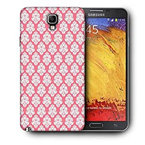 Snoogg Abstract White Pink Pattern 2 Printed Protective Phone Back Case Cover For Samsung Galaxy NOTE 3 NEO / Note III
