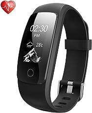Semaco Fitness Armbänder, Fitness Tracker mit Pulsmesser, Fitness Aktivitätstracker Schrittzähler, Schlaf-Monitor,/ Kalorienzähler, Anrufen/SMS, GPS-Routenverfolgung für Android iOS Smartphone