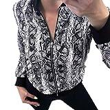 MRULIC Damenmode Mantel Lose Zipper Langarm Jacke mit Taschen Basic Slim-fit Blusen Boutique Kurzes Oberteil (EU-34/CN-S, Grau)