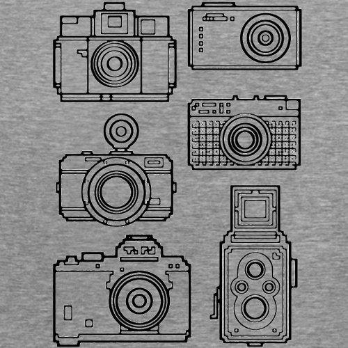 Vintage Cameras - Damen T-Shirt - 14 Farben Sportlich Grau