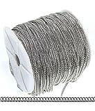 Catena a maglia piatta ovale in metallo, 1 m, colore: grigio, dimensioni: 4 x 3 mm