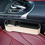 zhangyu - Scatola portaoggetti Multifunzione per Auto, con Morsetto per seggiolino Auto Beige Master Driving Upgrade Leather