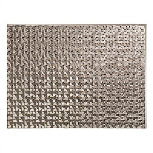 Fasade Easy Installation Terrain Brushed Nickel Backsplash Panel for Kitchen and Bathrooms (18 x 24 Panel) by Fasade (Fasade Panels Backsplash)
