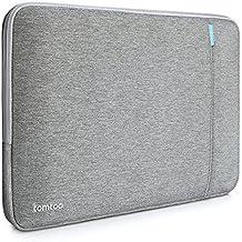Funda Tomtoc 13 Pulgadas MacBook Air/MacBook Pro Retina/12.9 Pulgadas Ipad Pro Bolsa Protectora a Prueba de Choques en Tela para Ordenador Portátil, Resistente a Salpicaduras, color gris