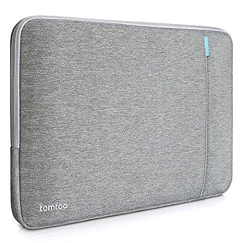 Tomtoc 15 pouces Housse de protection en tissu pour 15 pouces Nouveau MacBook Pro 2016 avec Touch Bar et Touch ID (modèle A1707), Gris