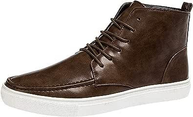 rismart Uomo High Top Allacciare Pattinare Casuale Confortevole Moda Sneaker