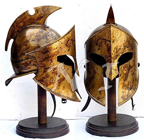 ANTIQUENAUTICAS Halloween Rüstung Helm König Leonidas Helm Spartan Roman 300 Kostüm ()