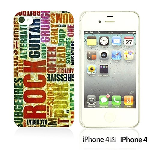 OBiDi - Typography Pattern Hard Back Case / Housse pour Apple iPhone 4S / Apple iPhone 4 - Life Is Retro Typography