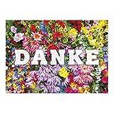 Große XXL Dankeskarte mit Umschlag / DIN A4 / Danke Blumenmeer / Dankeschön / Danke sagen / Danksagung