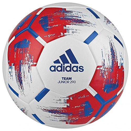 adidas Unisex Jugend Fußball Team Junior, Größe 5, 290 g, White/RED/Blue/SILVMT, 5