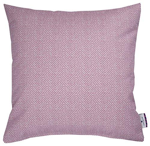 TOM TAILOR T-Soft Herringbon Kissenhülle Polyester Rosa 45 x 45 x 0.05 cm