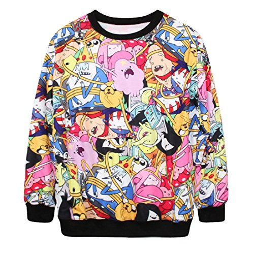 YICHUN Femme Tops T-Shirts Tee-Shirt Léger Sweat-shirts Sweaters Pulls Blouse Pull-Overs Jumpers Animation 15#