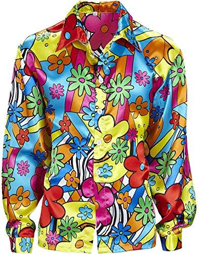 Flower Power Shirt Costume Extra Large for 60s 70s Hippy Fancy (Kostüm Flower Power Ideen)