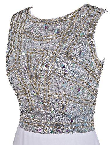 Dresstells, Robe de soirée Robe de cérémonie emperlée paillettée traîne moyenne Bleu Saphir