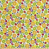 ABAKUHAUS Früchte Stoff als Meterware, Orangen und