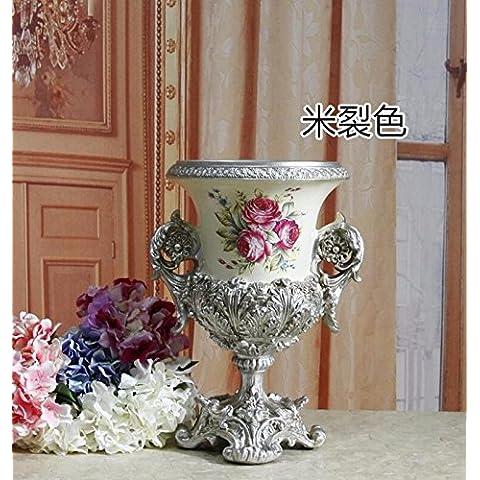midtawer in breve stile western in resina vasi Pearl rispettando la superficie sul desktop campione di casa fiore, M Rift colore