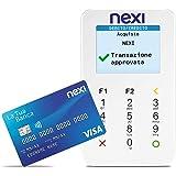 Nexi - Mobile Pos - Lettore Elettronico Portatile Contactless per Bancomat, Carta di Credito, Prepagata, Apple Pay e Google P