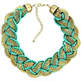 Turquoise Blue Thread Chain Necklace Fashion Jewellery For Women