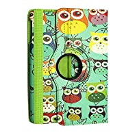 Kamal Star KINDLE FIRE HD 10 2015 Case, Leather Wallet flip cover,back stand cover, Full Body protection tablet cover by (Design 01 Multi Owl)
