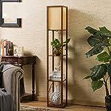 LightSei- Klassische chinesische Art Wohnzimmer Schlafzimmer Arbeitszimmer Raum Led Ausgehöhlte Schnitzen E27 führte Holz Stehlampe 26 * 26 * 160cm