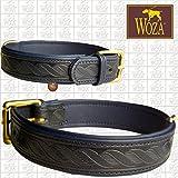 Woza Premium HUNDEHALSBAND 4,3/55CM ISSONE Twist Vollleder Rindleder Nappa Handmade Collar