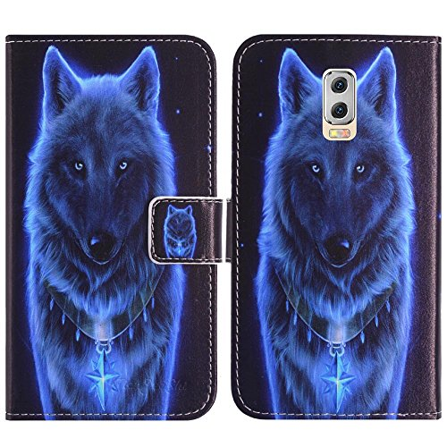 TienJueShi Wolf Flip Book-Style Brief Leder Tasche Schutz Hulle Handy Case Abdeckung Fall Wallet Cover Etui Skin Fur M-Horse Power 2 5.5 inch
