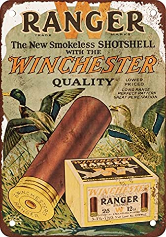 Winchester Ranger Shotgun Shells Vintage Look Reproduction Metal Tin Sign 8X12 Inches