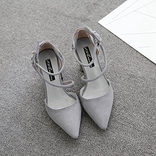 damen in high heels mit harten wildlederschuhe fuß ring - damen in high heels sandaletten schuhe, schuhe S.