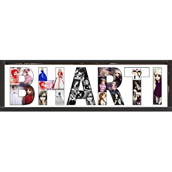 Buy Personalized Name collage with your photos with frame of Black ...