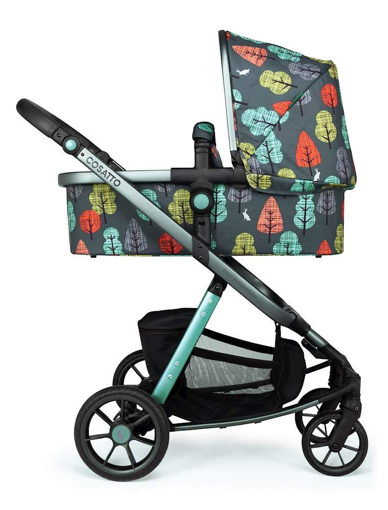 Cosatto Giggle Quad Pram & Pushchair Hare Wood Cosatto Enhanced performance. unique tyre material and all-round premium suspension give air-soft feel. Comfy all-round. spacious carrycot for growing babies.  washable liner. reversible reclining seat. Ultimate buy. tested up to a mighty 20kg for even longer use. big 3.5kg capacity basket for big shop 2