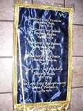 Banner nomi di Dio di raso blu (19x 12) by Holy Land Gifts