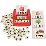 لعبة مطابقة الرسالة لتعليم القراءة والكتابة، 60 بطاقة باللغة الإنجليزية لتعليم تهجئة الكلمات، ولعبة لوحية لتحسين الذاكرة البص