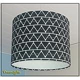 Lampenschirm- Black & White - 30 cm Durchmesser