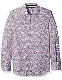 4898e51bb28fe Perry Ellis Hombre Manga Larga Camisa de Botones