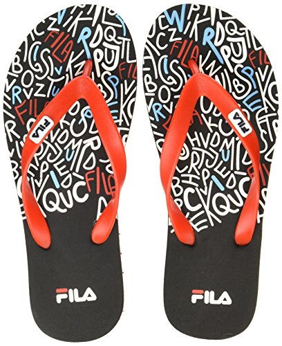 Fila Men's Latham Black /Red Flip Flops Thong Sandals - 8 UK/India (42 EU)  available at amazon for Rs.249