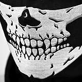 Yuk 2pcs Multifuncti esqueleto fantasma máscara de calavera Cosplay monopatín Biker Ciclismo al aire libre capucha diadema