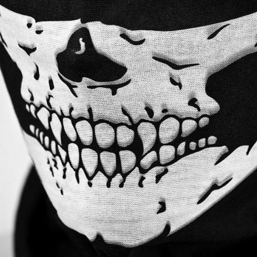 YUK Skelett-Gesichtsmaske mit Totenkopf-Motiv, für Cosplay, Skateboard, Biker, -